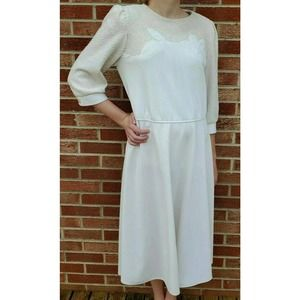 Vintage Leslie Fay Women's Cottage Core Dress